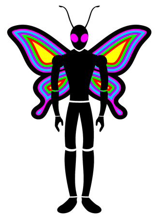 beuty: Butterfly man Illustration