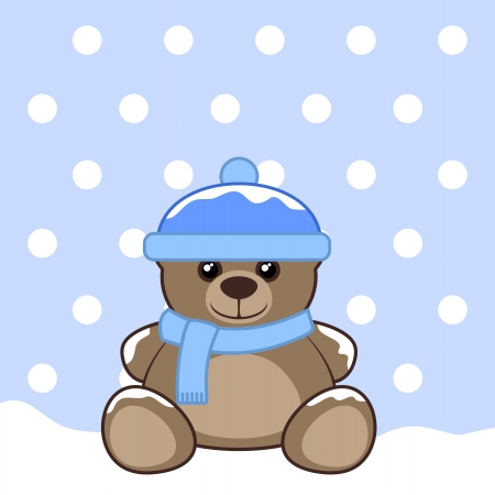 Snow teddy Vector