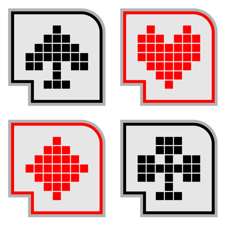 Poker icons Vector