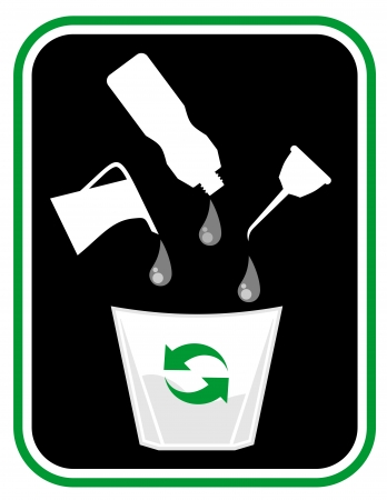 Oil recycled Stock Vector - 22588789