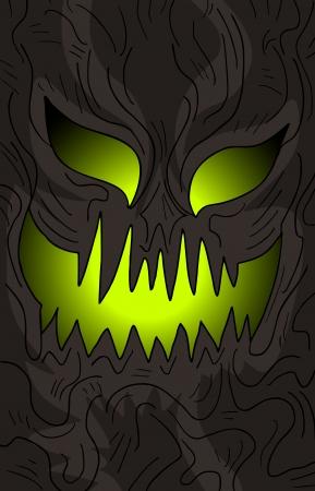 terror: Halloween terror mask Illustration