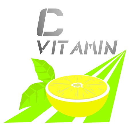 limon: C vitamin Illustration
