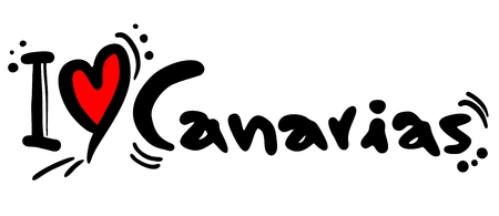 canarias: I love Canarias Illustration