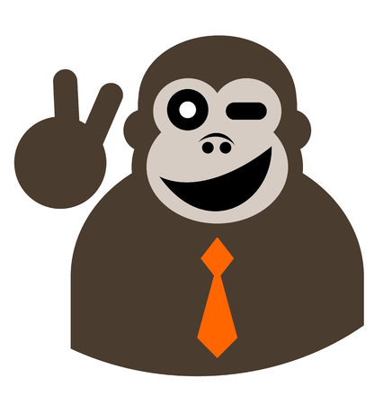 Fashion monkey Vector