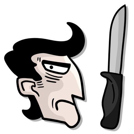 Danger face man Ilustrace