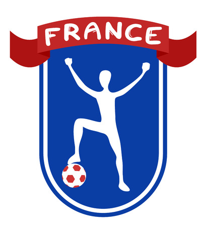 France soccer ribbon Vector