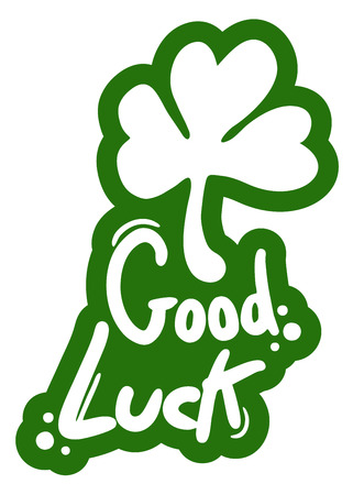good luck charm: Good luck message Illustration