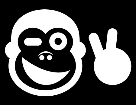 Happy monkey Vector