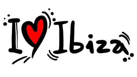 ibiza: I love Ibiza Illustration