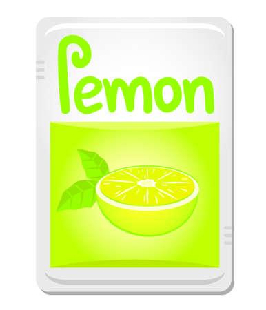 original single: Lemon juice sticker