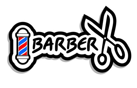 male grooming: Barber icon Illustration