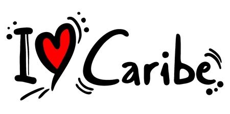 caribbean party: Caribe love Illustration