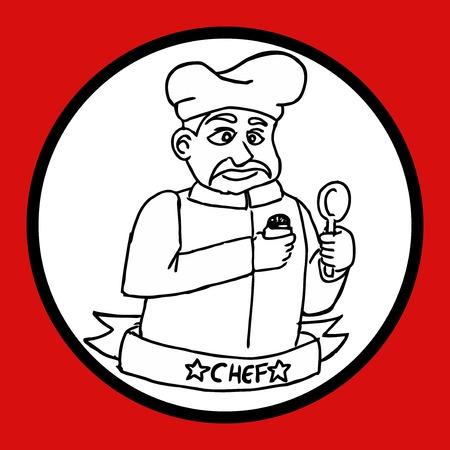 puncture: Chef design Illustration