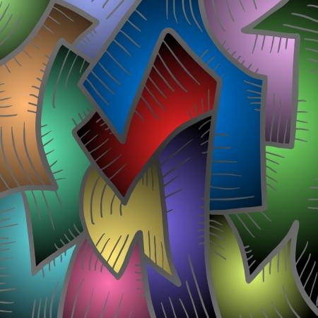 original single: Color mossaic Illustration