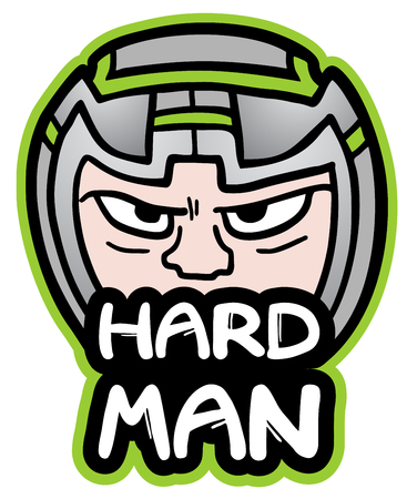 Hard man Vector
