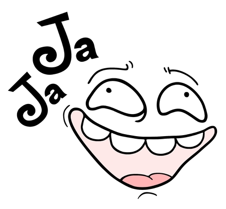talkative: Joke face Illustration