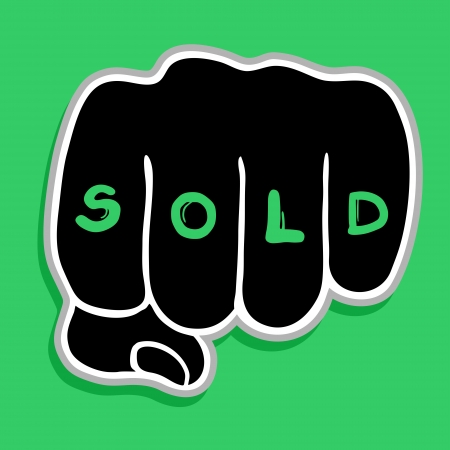 Sold hand symbol Stock Vector - 23261950