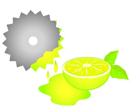 splitting: Lemon juice