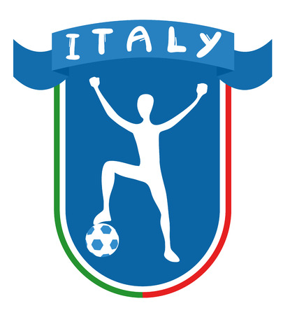 Italy winner soccer ribbon Vector