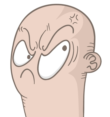 annoyance: Rebel face draw Illustration