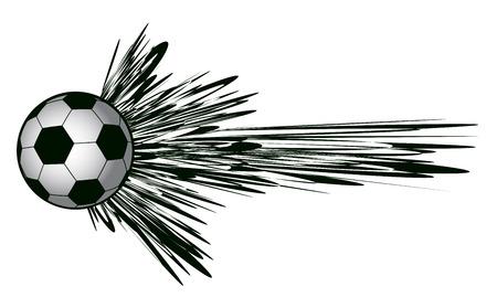 Speed soccer ball