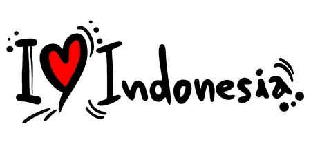 I love Indonesia Stock Vector - 23397898