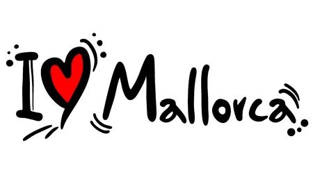 majorca: I love Mallorca Illustration