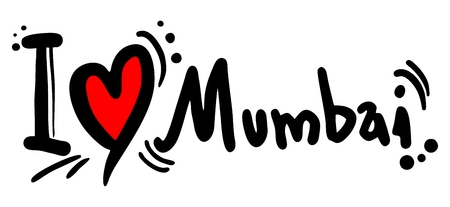 mumbai: Love Mumbai Illustration