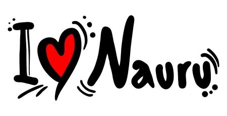I love Nauru Stock Vector - 23397923