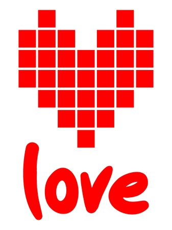 Love pixel art Vector