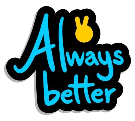 preferable: Always better symbol Illustration