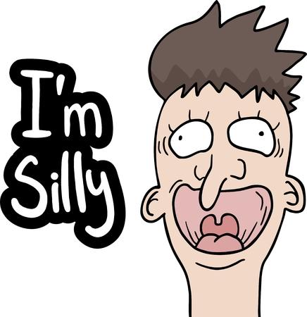 Silly cartoon face