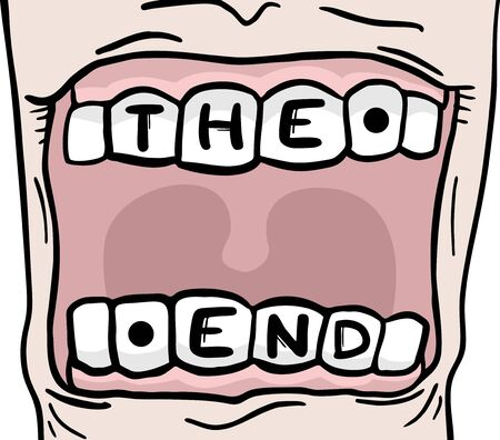 closed mouth: The end mouth message Illustration