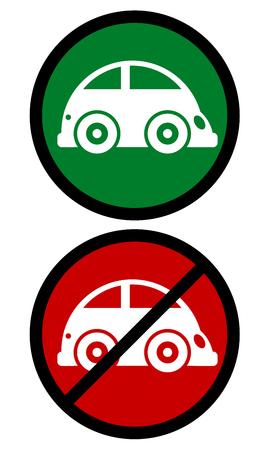abolished: Traffic car symbol