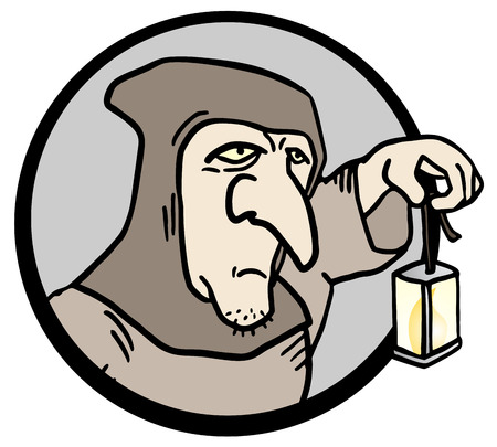 woodcutter: Old man icon Illustration