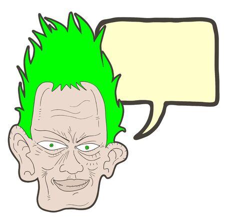 Creative comic face Stock Vector - 24165639