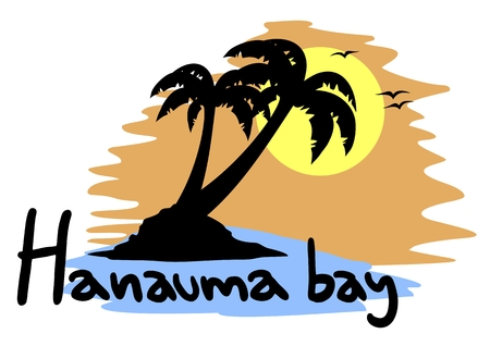 Hanauma bay Vector