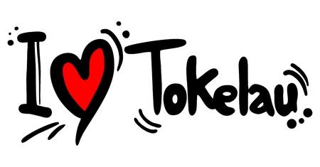tokelau: Tokelau love Illustration