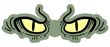 rebellious: Reptile eyes Illustration