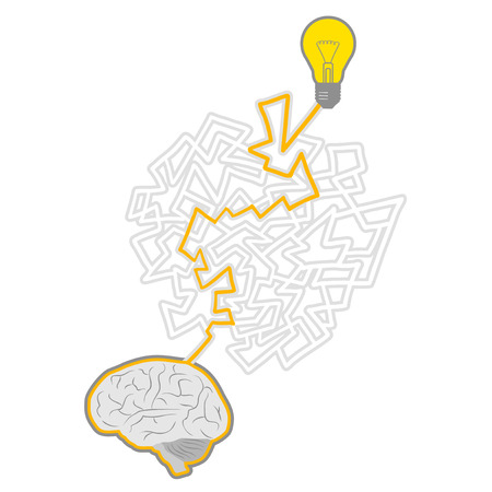 original single: Science brain Illustration
