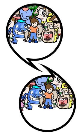 indicative: Creative comic symbol Illustration
