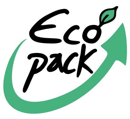 eco slogan: Paquete de Eco Vectores