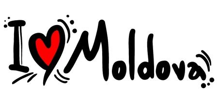 Moldova love Illustration