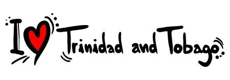 trinidad: Trinidad and Tobago love Illustration