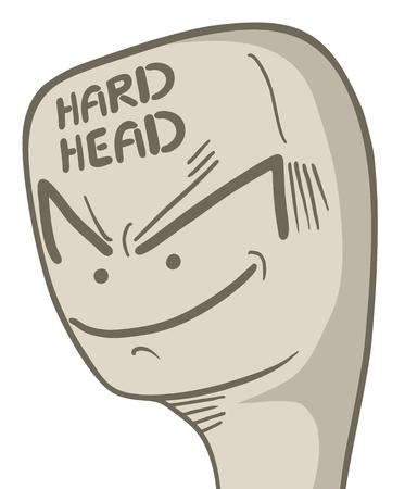 Hard head Stock Vector - 24356097
