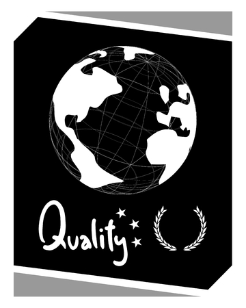safety slogan: Global quality emblem