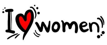 wench: I love women Illustration