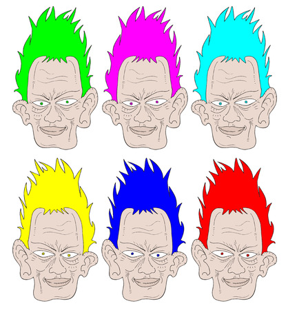 Color faces Vector