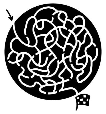 bustle: Circle maze
