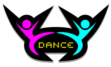 comic duo: Dance symbol